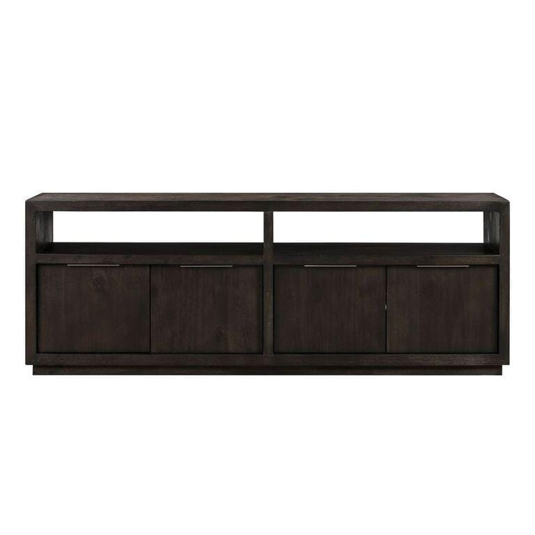 "Oxford Solid Wood 74"" Media Console in Graphite - What A Room Furniture"