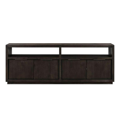 "Oxford Solid Wood 74"" Media Console in Graphite"