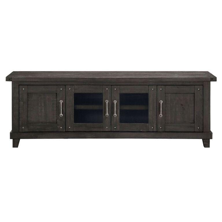 Yosemite Solid Wood Four Door Media Console in Café - What A Room Furniture