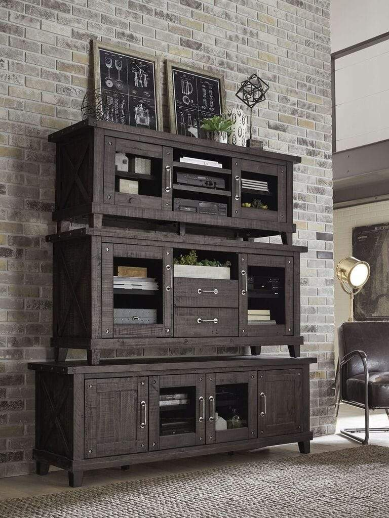 Yosemite Solid Wood Two Drawer Media Console in Café
