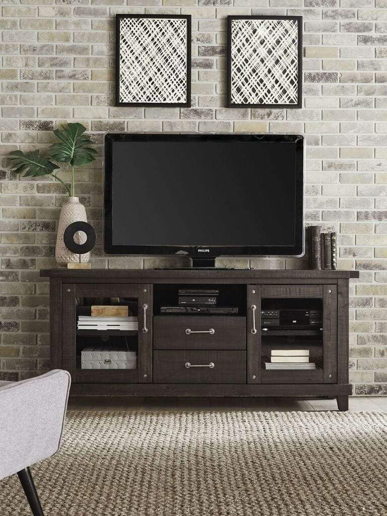 Yosemite Solid Wood Two Drawer Media Console in Café - What A Room Furniture