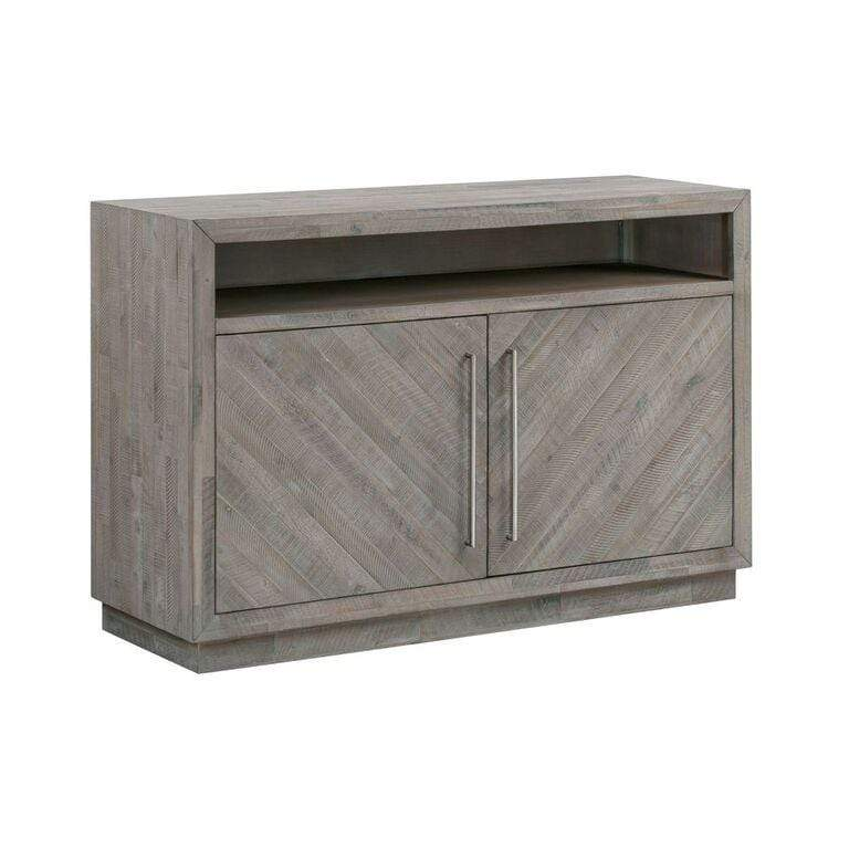 "Alexandra Solid Wood 54"" Media Console in Rustic Latte - What A Room Furniture"