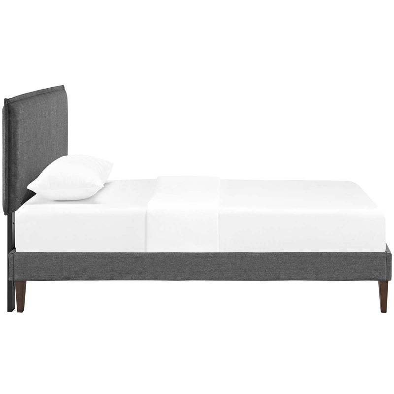 Amaris Twin Fabric Platform Bed with Squared Tapered Legs - What A Room