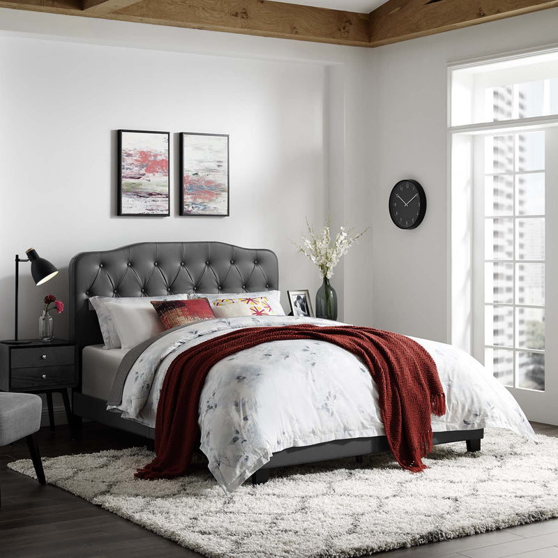 Amelia King Faux Leather Bed