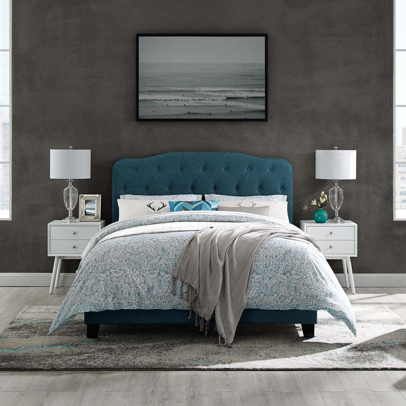 Amelia Queen Upholstered Fabric Bed - What A Room Furniture