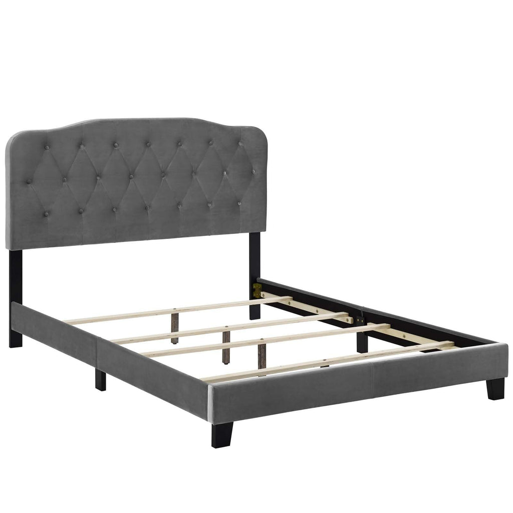 Amelia Twin Performance Velvet Bed - What A Room Furniture