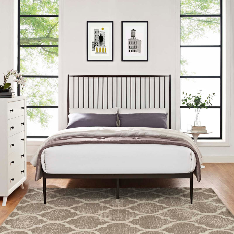 Annika Queen Platform Bed - What A Room Furniture