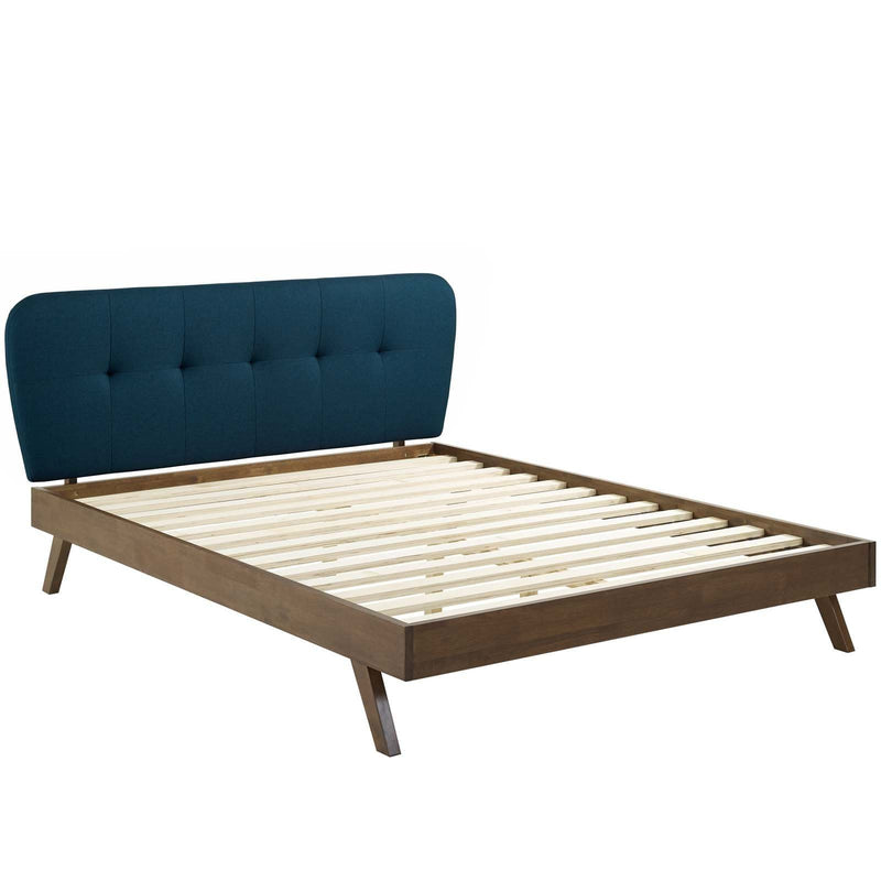 Gianna Queen Upholstered Polyester Fabric Platform Bed