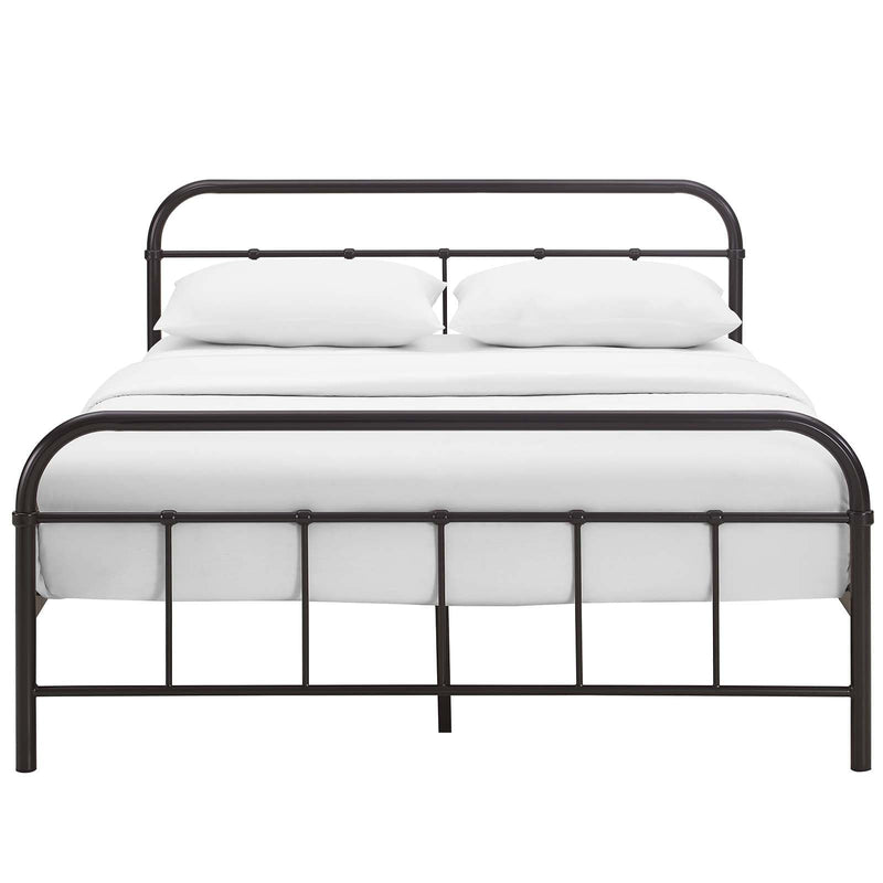 Maisie Queen Stainless Steel Bed Frame - What A Room