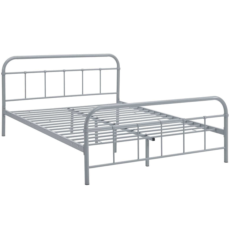 Maisie Queen Stainless Steel Bed Frame - What A Room Furniture