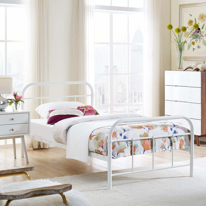 Maisie Twin Stainless Steel Bed Frame - What A Room
