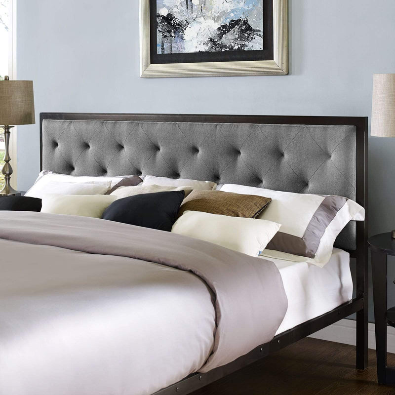 Mia King Fabric Bed - What A Room