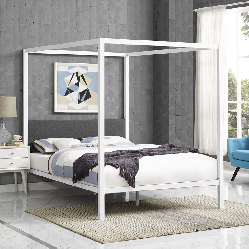 Raina Queen Canopy Bed Frame - What A Room