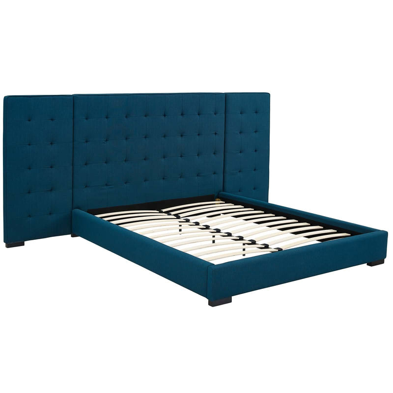 Sierra Queen Upholstered Fabric Platform Bed - What A Room Furniture