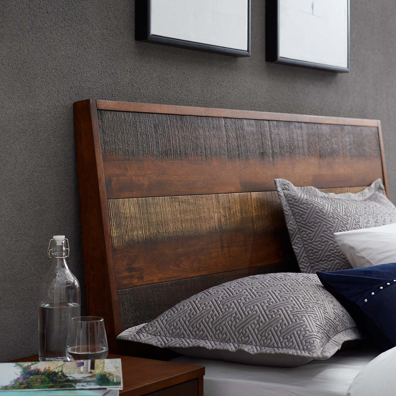 Arden Queen Rustic Wood Bed - What A Room Furniture