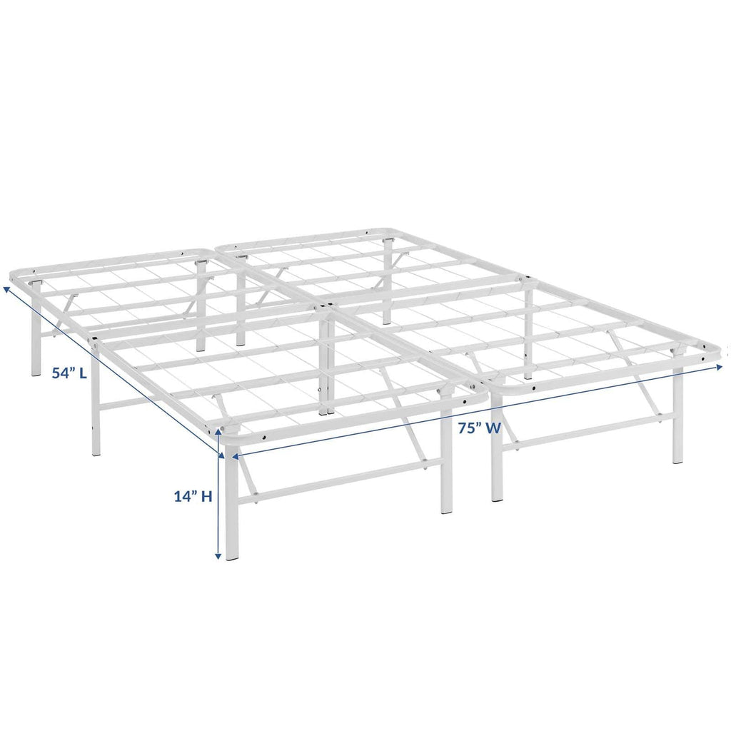 Horizon Full Stainless Steel Bed Frame - What A Room Furniture