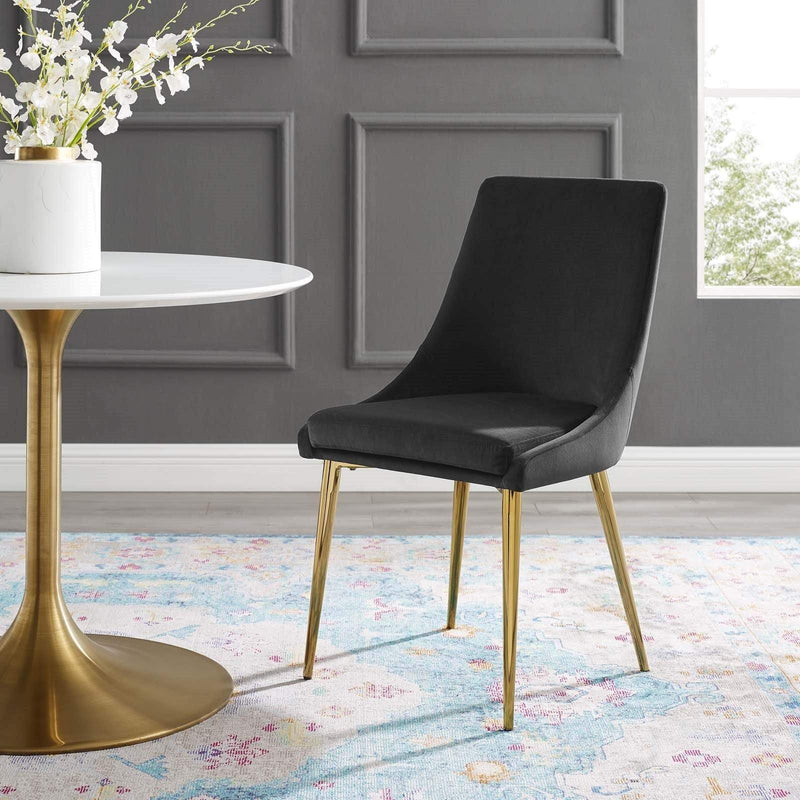 Monica Velvet Fabric Dining Chair - What A Room Furniture
