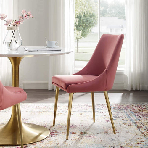 Monica Velvet Fabric Dining Chair - What A Room