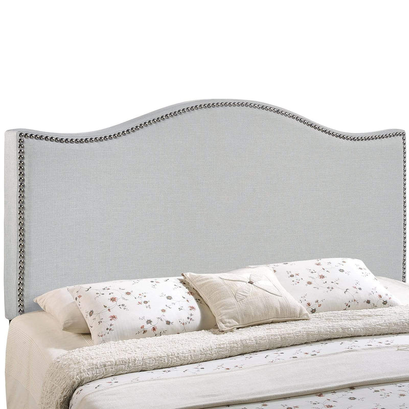 Curl King Nailhead Upholstered Headboard - What A Room