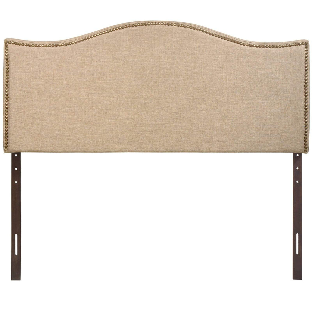 Curl Queen Nailhead Upholstered Headboard - What A Room Furniture