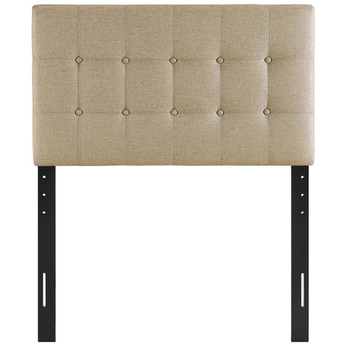 Emily Twin Upholstered Fabric Headboard