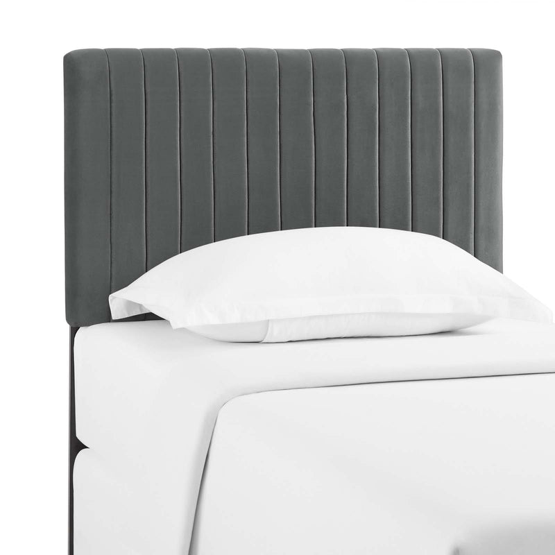 Keira Twin Performance Velvet Headboard - What A Room Furniture