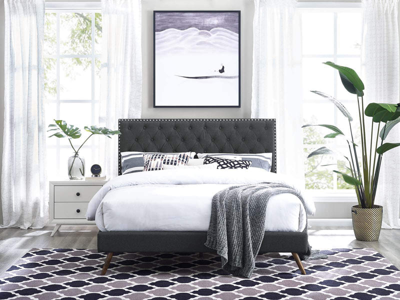 Helena Tufted King and California King Upholstered Linen Fabric Headboard - What A Room