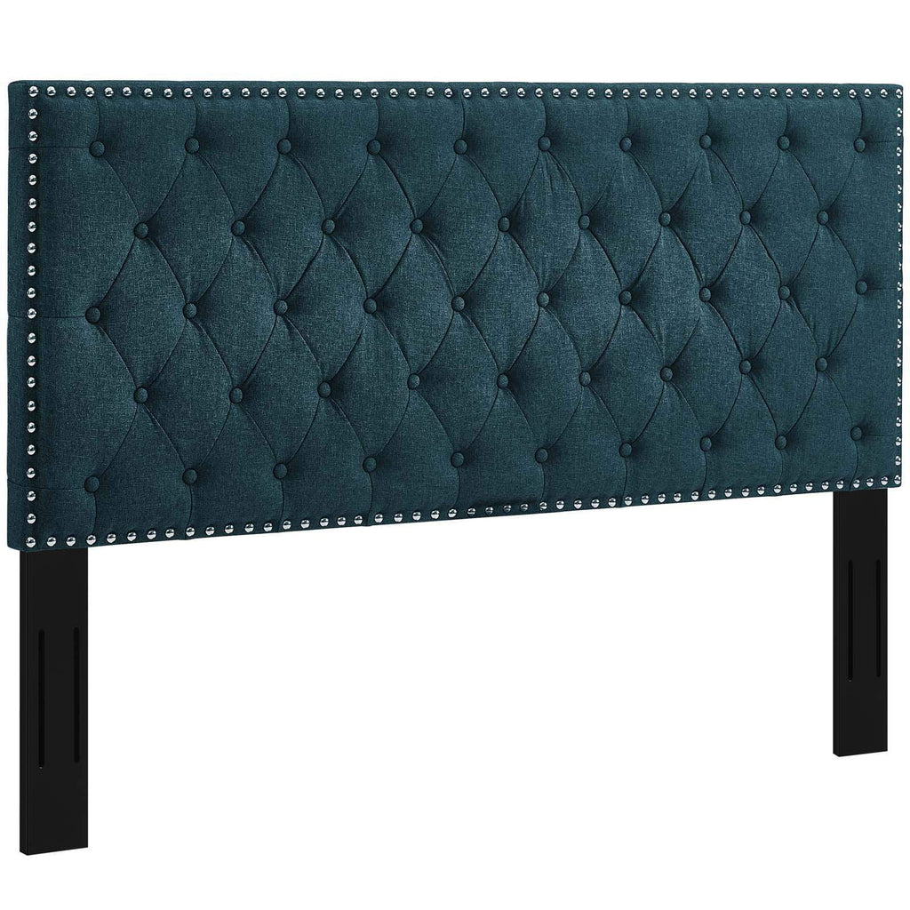 Helena Tufted Twin Upholstered Linen Fabric Headboard - What A Room Furniture