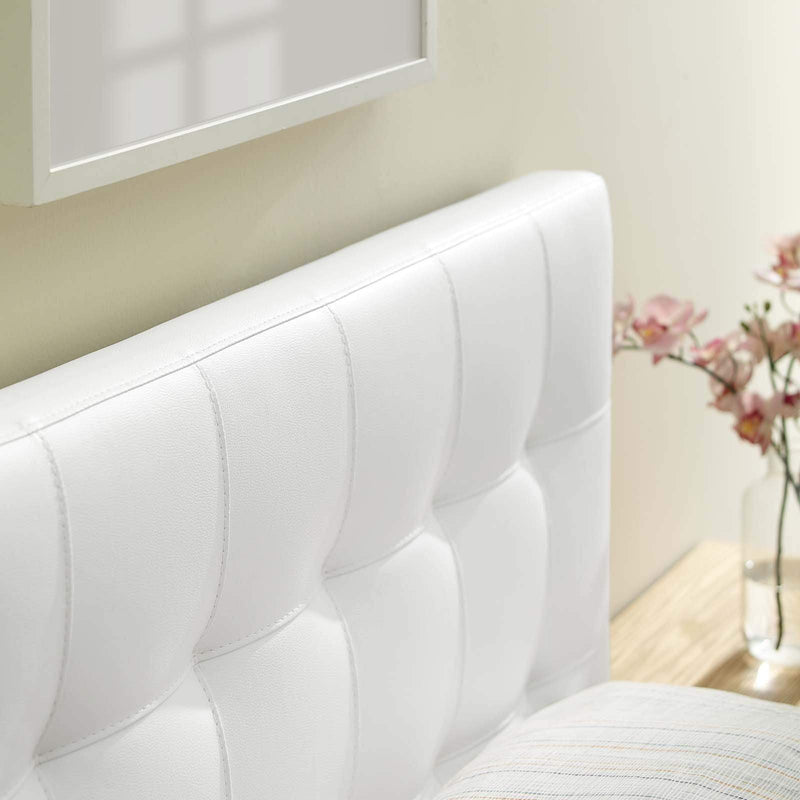 Lily Twin Upholstered Vinyl Headboard
