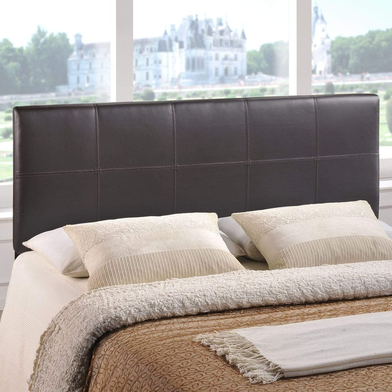 Oliver Queen Upholstered Vinyl Headboard - What A Room Furniture