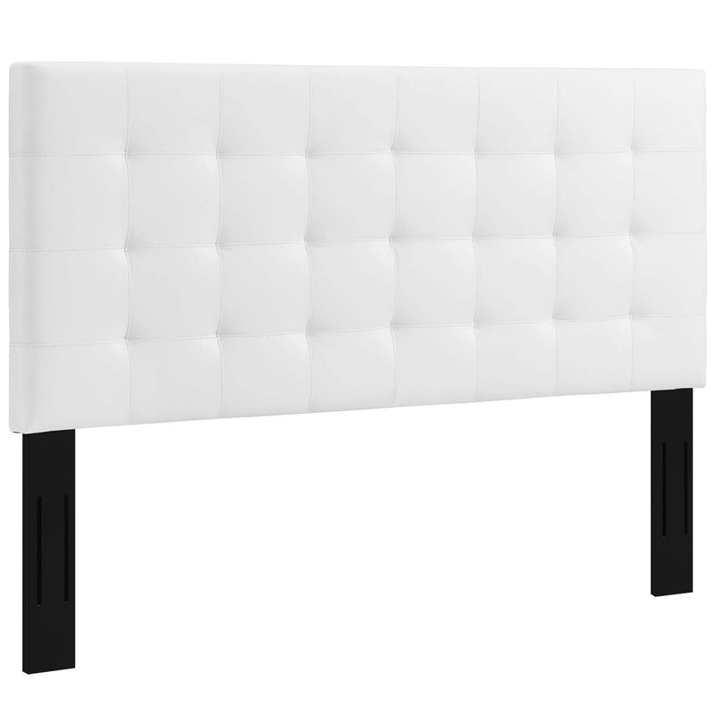 Paisley Tufted Full / Queen Upholstered Faux Leather Headboard - What A Room Furniture
