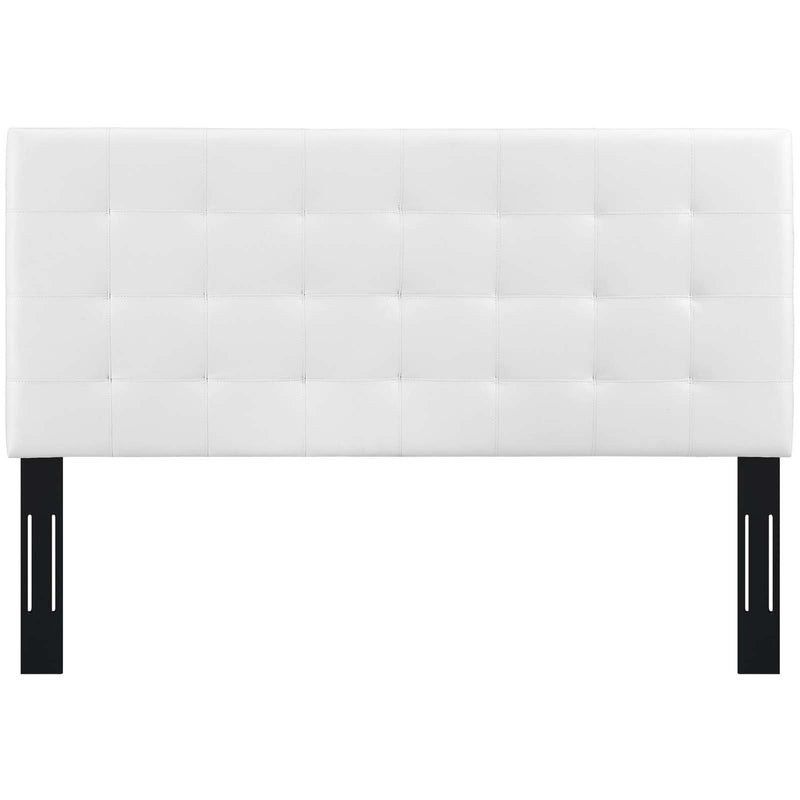 Paisley Tufted Twin Upholstered Faux Leather Headboard
