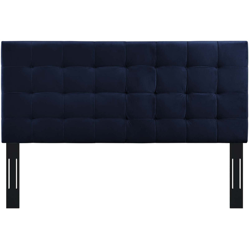 Paisley Tufted Twin Upholstered Performance Velvet Headboard - What A Room Furniture