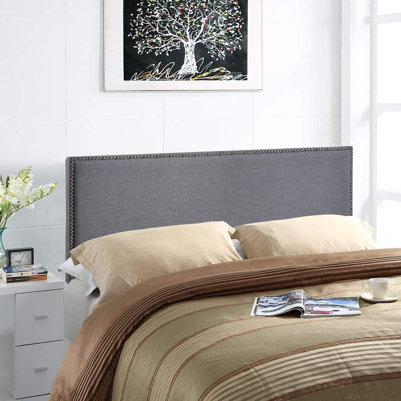 Region Queen Nailhead Upholstered Headboard - What A Room