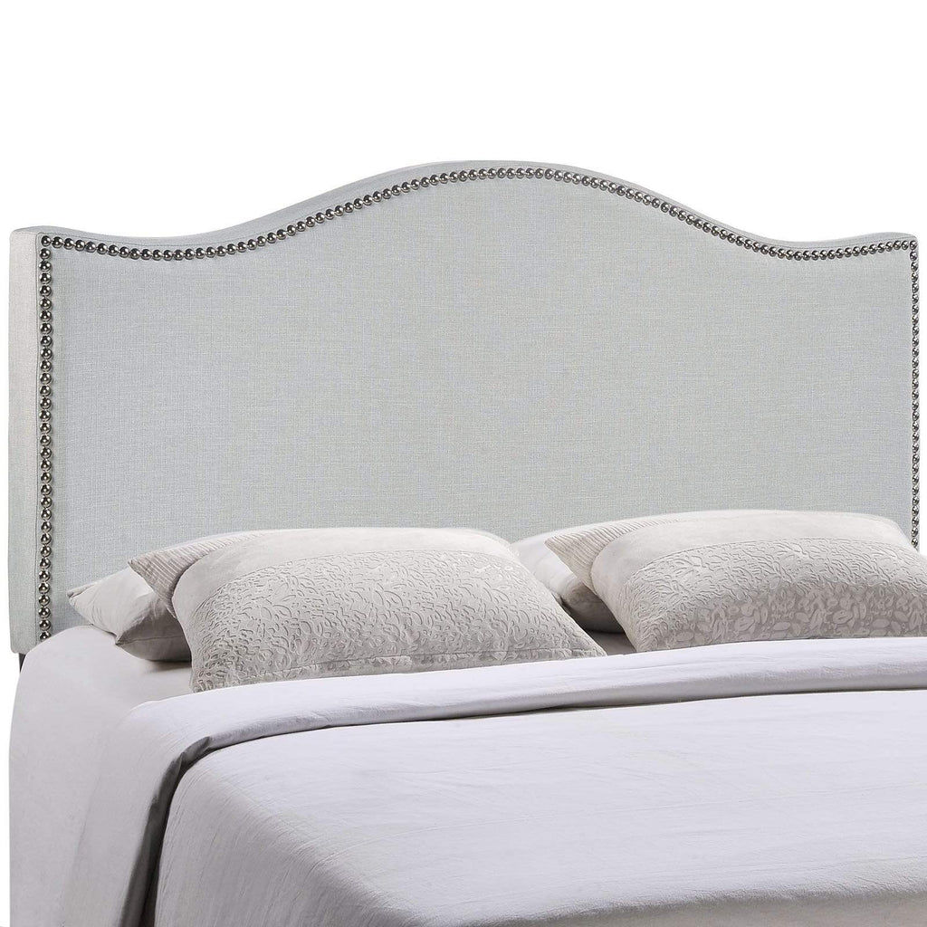 Curl King Nailhead Upholstered Headboard - What A Room Furniture