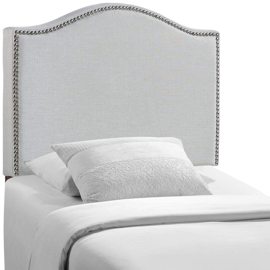 Curl Twin Nailhead Upholstered Headboard - What A Room Furniture