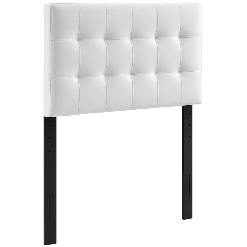 Lily Twin Upholstered Vinyl Headboard - What A Room