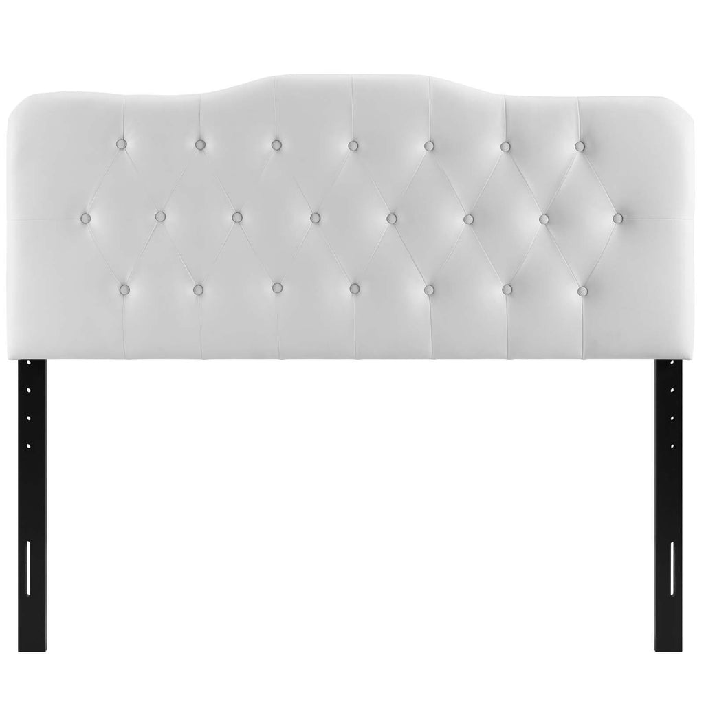 Annabel Queen Upholstered Vinyl Headboard - What A Room Furniture
