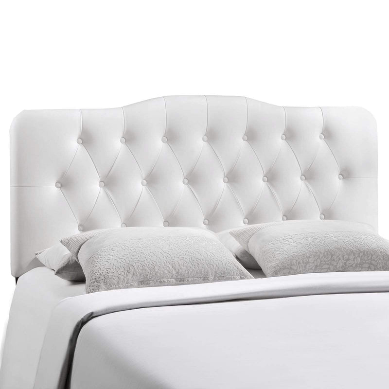 Annabel King Upholstered Vinyl Headboard - What A Room Furniture