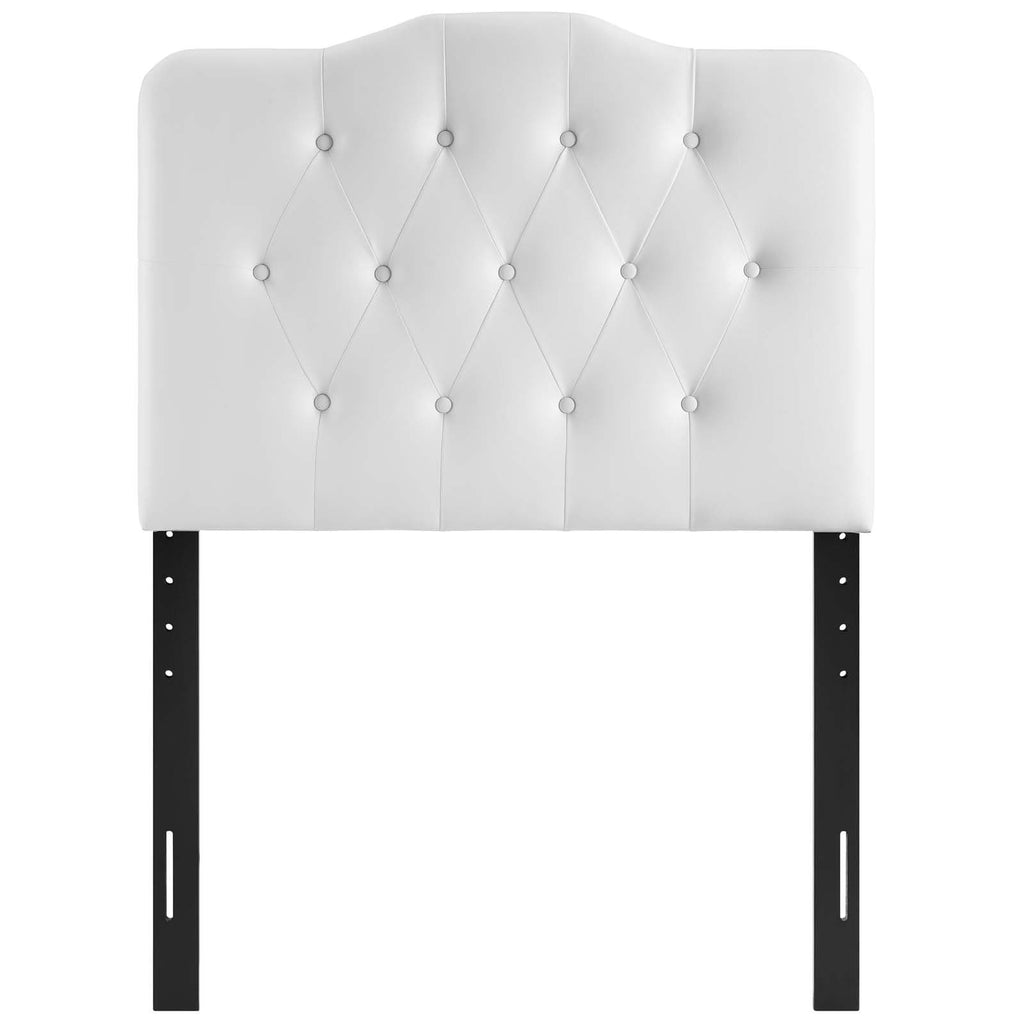 Annabel Twin Upholstered Vinyl Headboard - What A Room Furniture