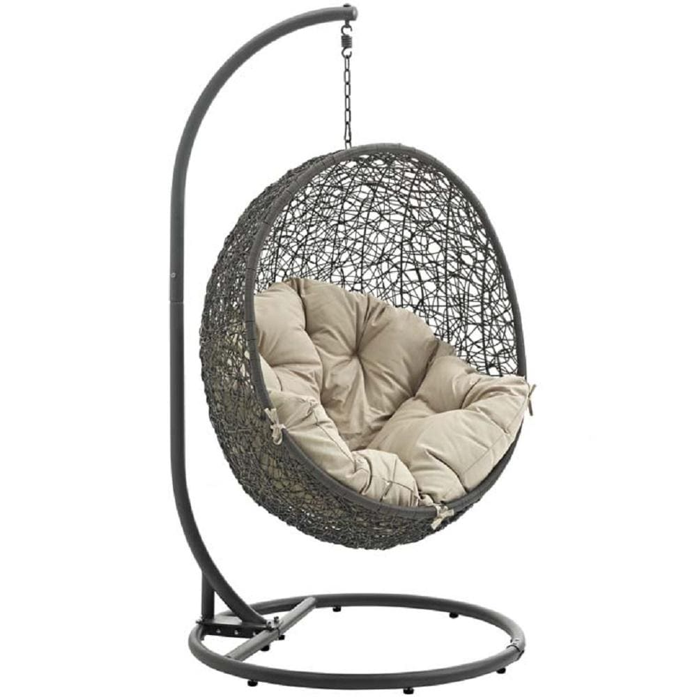 Hide Outdoor Patio Swing Chair With Stand In White - What A Room Furniture