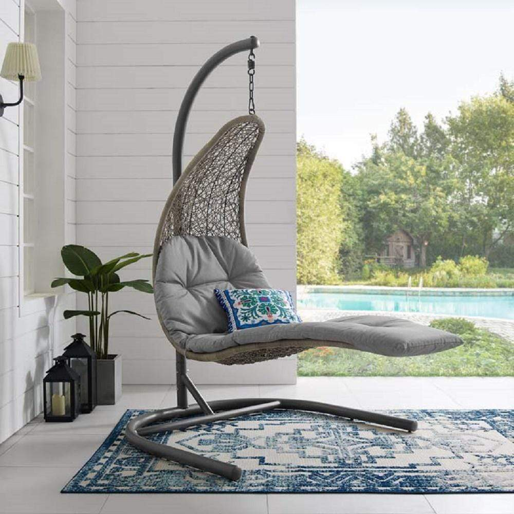 Landscape Hanging Chaise Lounge Outdoor Patio Swing Chair - What A Room Furniture