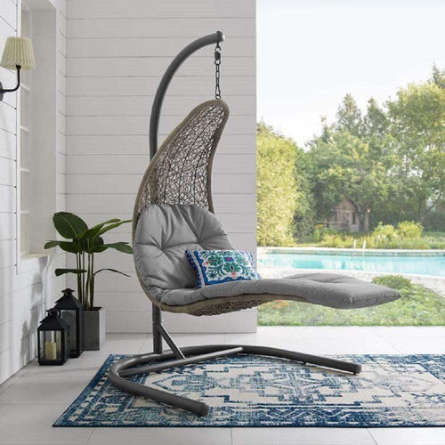 Landscape Hanging Chaise Lounge Outdoor Patio Swing Chair - What A Room