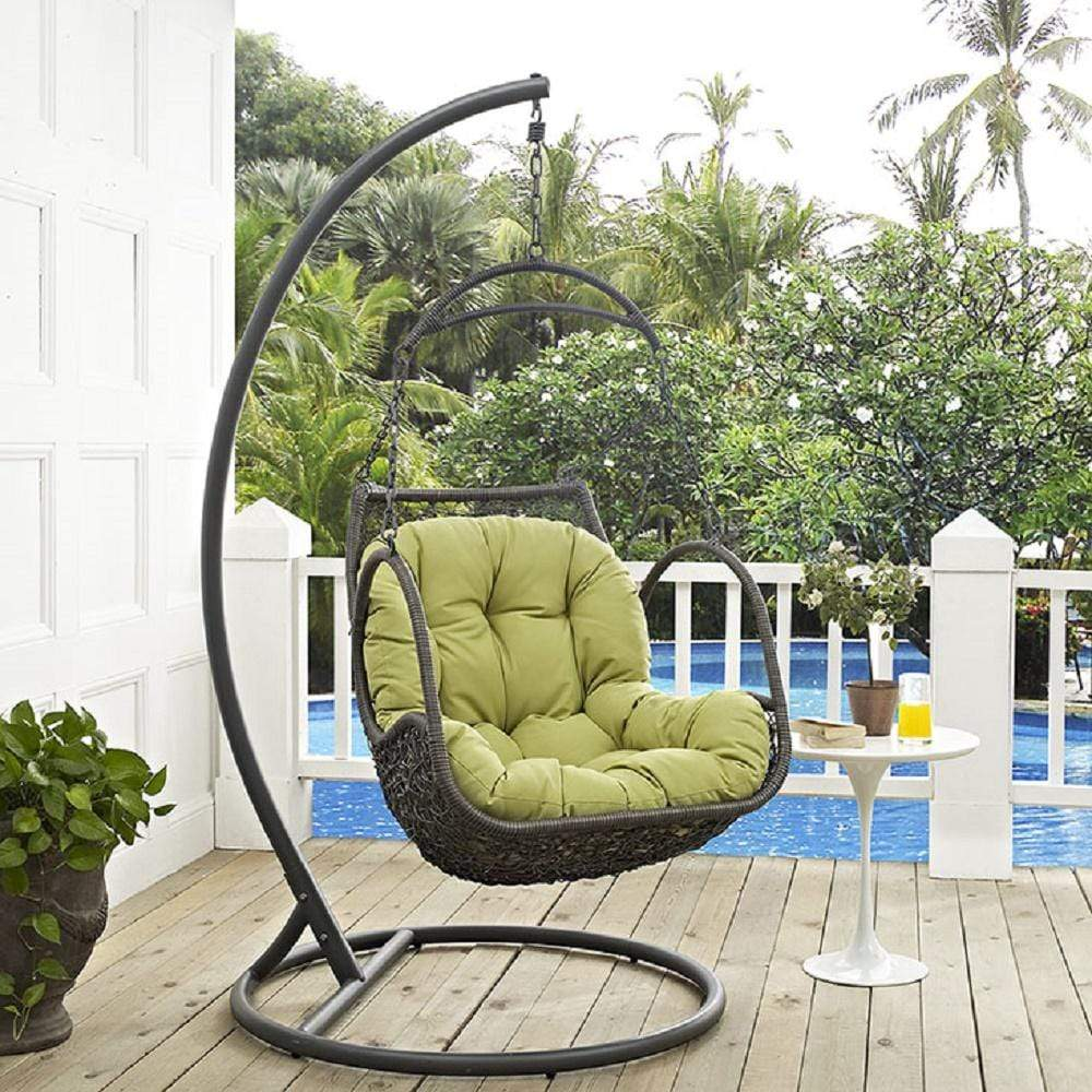 Arbor Outdoor Patio Wood Swing Chair - What A Room
