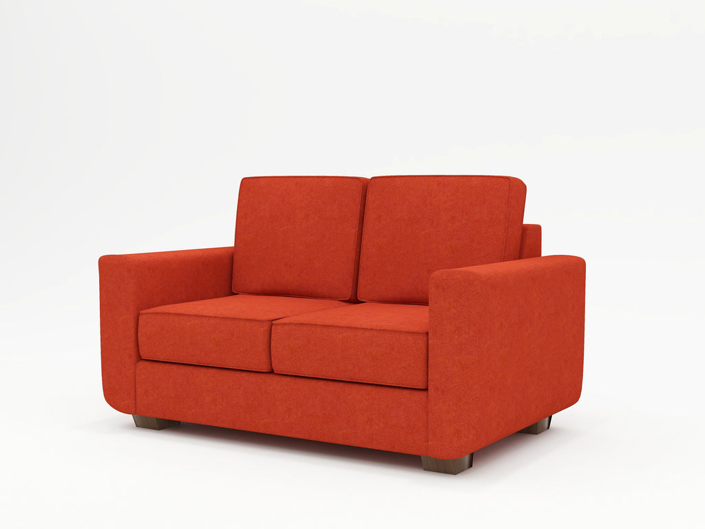 Angela Square Arm Upholstered Loveseat - What A Room Furniture