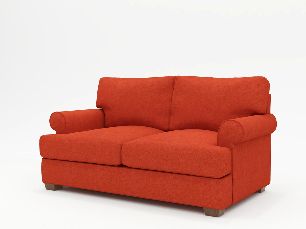 Biscanye Round Arm Upholstered Loveseat - What A Room Furniture