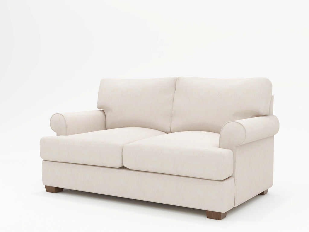 Biscanye Round Arm Upholstered Loveseat