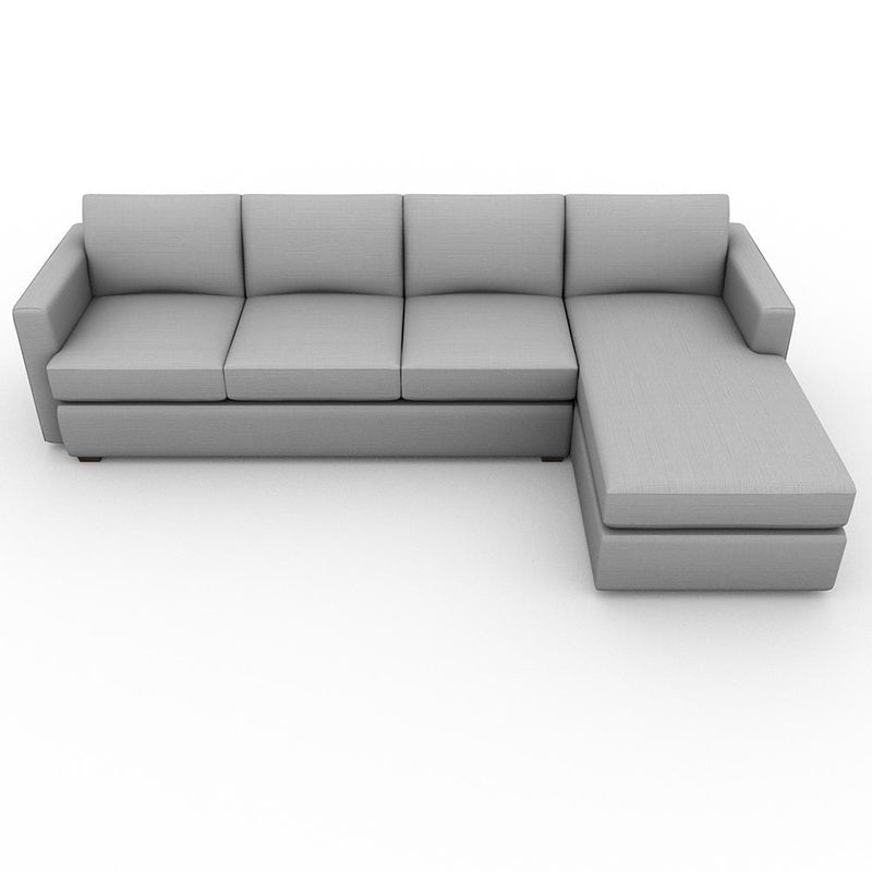 Lounge Square Arm Upholstered Sofa Chaise XL