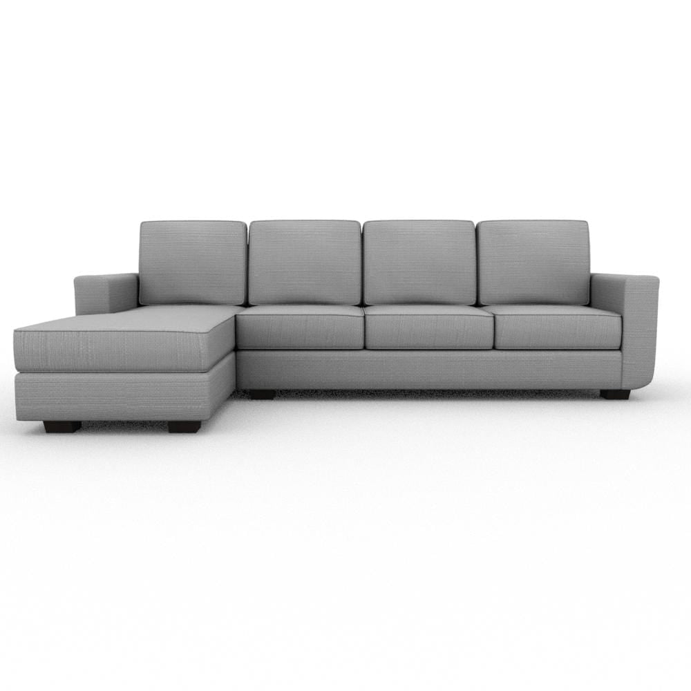 Angela Square Arm Upholstered Sofa Chaise XL - What A Room Furniture