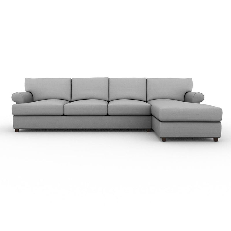 Biscanye Round Arm Upholstered Sofa Chaise XL